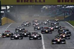 Jordan King, Racing Engineering devant Norman Nato, Racing Engineering, Nobuharu Matsushita, ART Grand Prix et Sergey Sirotkin, ART Grand Prix