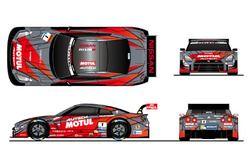 #1 Motul Autech GT-R カラーリングイメージ