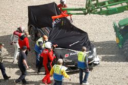 Crash, Timo Scheider, Audi Sport Test car