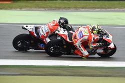 Andrea Iannone, Ducati Team and Scott Redding, Pramac Racing
