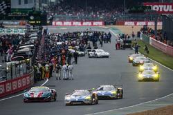 #51 AF Corse Ferrari 488 GTE: Gianmaria Bruni, James Calado, Alessandro Pier Guidi, #66 Ford Chip Ga
