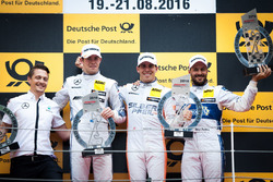 Podium: Race winner Robert Wickens, Mercedes-AMG Team HWA, Mercedes-AMG C63 DTM; second place Paul Di Resta, Mercedes-AMG Team HWA, Mercedes-AMG C63 DTM; third Gary Paffett, Mercedes-AMG Team ART, Mercedes-AMG C63 DTM