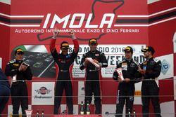 Podio GT3: Zonzini-Russo, Audi Sport Italia, Audi R8LMS-GT3 #58, Monfardini-Valori, Cars Engineering