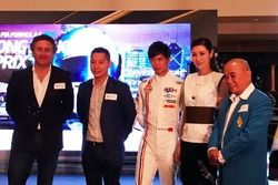 (L toR):Alejandro Agag,Ma Qinghua,Li Jiaxin, Lawrence Yu