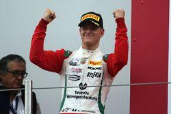 Race 2 podium: winner Mick Schumacher, Prema Power Team