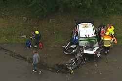 Unfall: Stéphane Lefebvre, Gabin Moreau, Citroën DS3 WRC, Citroën World Rally Team (Screenshot)