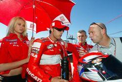 Loris Capirossi, Ducati Team and and Randy mamola