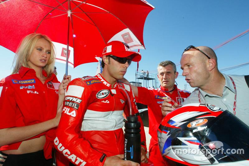 Loris Capirossi, Ducati Team; Randy Mamola