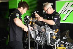 SIC Racing Team mechanics at work
