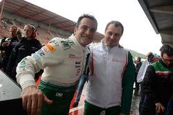 Third place #49 AF Corse Ferrari 458 Italia GT3: Alex Moiseev, Marco Cioci