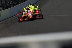 Scott Dixon, Chip Ganassi Racing Chevrolet, Simon Pagenaud, Team Penske Chevrolet