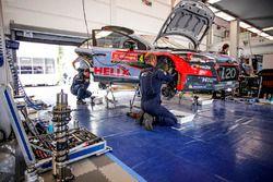 Service-Bereich von Hyundai Motorsport