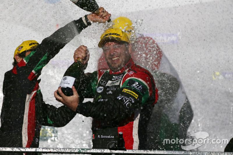 Podium LMP2: Ricardo Gonzalez, #43 RGR Sport by Morand Oreca 05 - Nissan