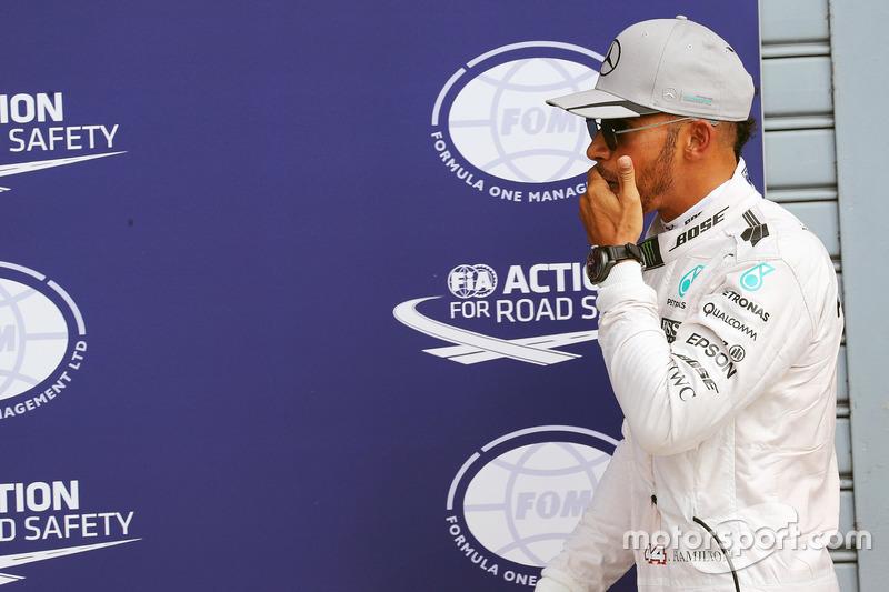 Lewis Hamilton, Mercedes AMG F1 in parc ferme