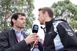 Mark Webber, Porsche Team WEC Driver and Channel 10 Presenter with Jenson Button, McLaren