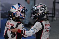 #6 Toyota Racing Toyota TS050 Hybrid: Kamui Kobayashi and #5 Toyota Racing Toyota TS050 Hybrid: Anth