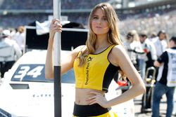 Grid girl of Esteban Ocon, Mercedes-AMG Team ART, Mercedes-AMG C 63 DTM DTM