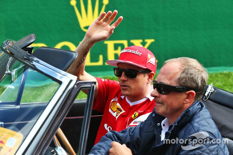 Kimi Raikkonen, Ferrari nella sfilata dei piloti