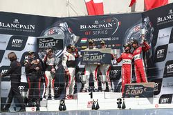 Pro Am podium: winners Christophe Bourret, Jean-Philippe Belloc, Akka ASP, second place Jean-Luc Bea