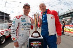 Craig Lowndes, Triple Eight Race Engineering Holden with the Peter Brock Trophy