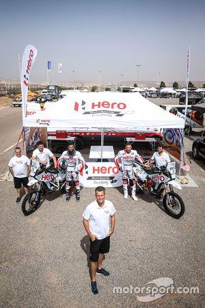 CS Santosh, Hero MotoSports Team Rally, Joaquim Rodrigues, Hero MotoSports Team Rally, Wolfgang Fischer, Hero MotoSports Team Rally Manager de equipo Team