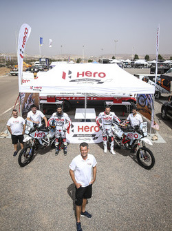 CS Santosh, Hero MotoSports Team Rally, Joaquim Rodrigues, Hero MotoSports Team Rally, Wolfgang Fisc