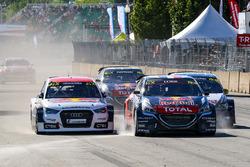 Себастьян Лёб, Team Peugeot Hansen и Томас Хейккинен, EKS RX Audi S1