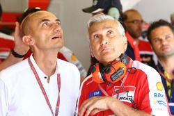 Claudio Domenicali, Ducati CEO, Davide Tardozzi, Team Team Principal Ducati