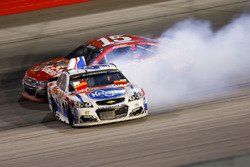 A.J. Allmendinger, JTG Daugherty Racing Chevrolet, in trouble