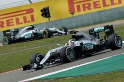 Lewis Hamilton, Mercedes AMG F1 Team W07 and Nico Rosberg, Mercedes AMG F1 Team W07