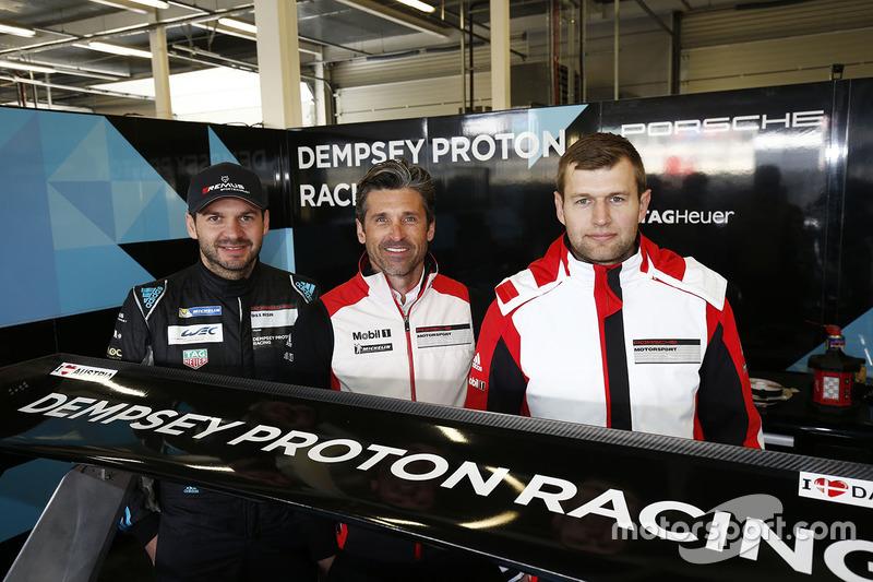 Patrick Dempsey avec Richard Lietz et Michael Christensen, Dempsey Proton Competition