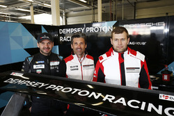 Patrick Dempsey with Richard Lietz and Michael Christensen, Dempsey Proton Competition