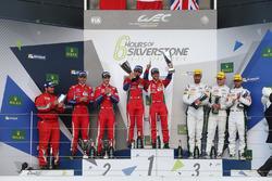 LMGTE Pro Podium: winnaars, Davide Rigon, Sam Bird, AF Corse, Gianmaria Bruni, James Calado, tweede