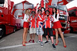 Lovely Ducati girls with fans