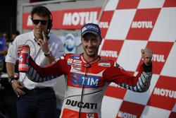 Podium : deuxième place pour Andrea Dovizioso, Ducati Team