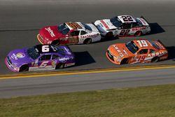 Darrell Wallace Jr., Roush Fenway Racing Ford, Joey Logano, Team Penske Ford, Daniel Suarez, Joe Gib