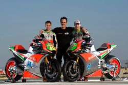 Alvaro Bautista and Stefan Bradl with the Aprilia RS-GP 2016