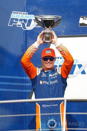 Scott Dixon, Chip Ganassi Racing Honda, podio