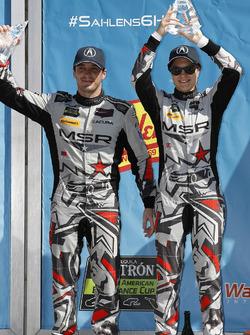 #86 Michael Shank Racing with Curb-Agajanian Acura NSX, GTD: Katherine Legge, Alvaro Parente, podium