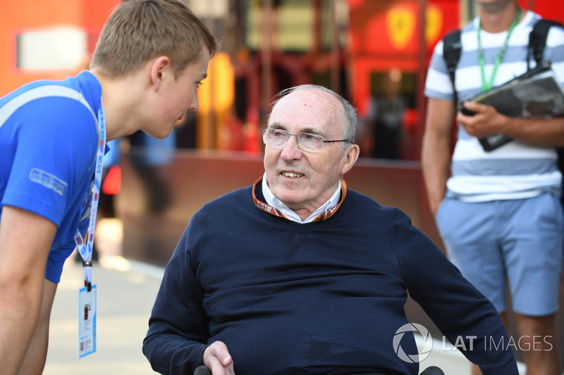 Frank Williams, propietario del equipo Williams y Billy Monger