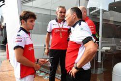 Charles Leclerc, Sauber y Frederic Vasseur, director del equipo Sauber