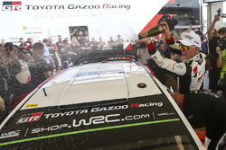 Le vainqueur Ott Tanak, Toyota Gazoo Racing