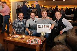 Les participants au Championnat Suisse de la Montagne Junior, Aurelio Demski, Mario Koch, Lukas Eugster et Rolf Reding