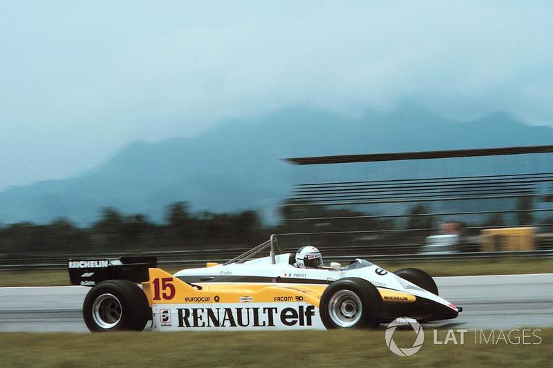 Новым лидером гонки стал Ален Прост. Француза неслучайно прозвали Профессором – он умел беречь технику, зачастую выигрывая гонки не скоростью, а умом. В Шпильберге все, казалось, шло к его победе – остальные «турбомонстры» уже были вне игры, а соперников с Ford Cosworth Ален опережал на добрых полкруга