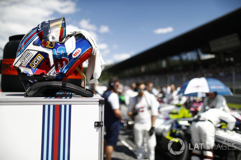 Le casque de Sergey Sirotkin, Williams Racing
