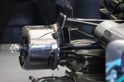 Rear brake duct detail on the Mercedes AMG F1 W09