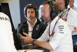 Mercedes engineers keep an eye on their telemetry