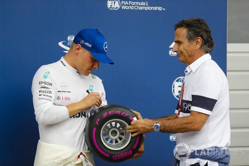 Pole pozisyonu galibi Valtteri Bottas, Mercedes AMG F1, Nelson Piquet Sr