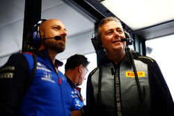 Mario Isola, Racing Manager, Pirelli Motorsport, in the Toro Rosso garage