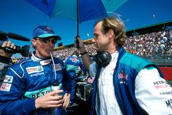 Johnny Herbert, Sauber with his physio Josef Leberer, Sauber